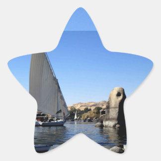 Navegación de Felucca en el Nilo en la imagen de Pegatinas Forma De Estrellaes Personalizadas