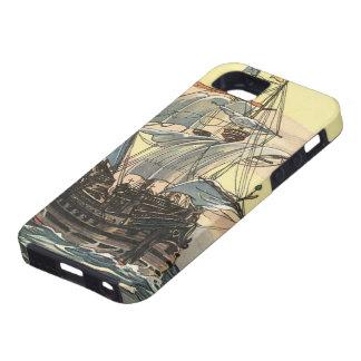 Navegación de Galleon del barco pirata del vintage iPhone 5 Case-Mate Funda