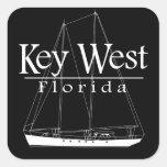 Navegación de Key West Calcomanías Cuadradases