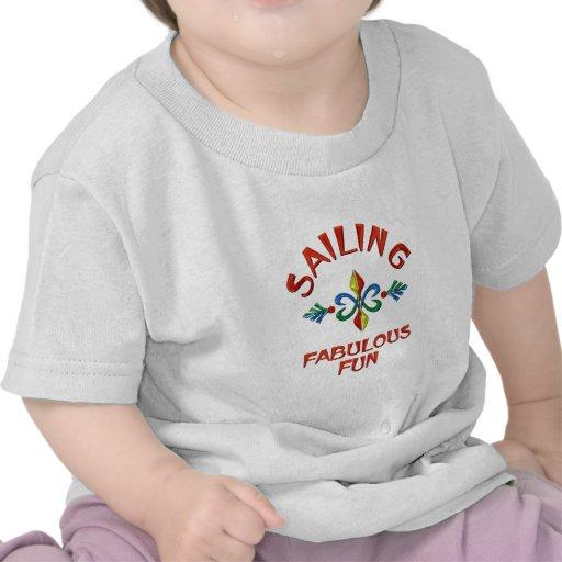 Navegación de la diversión fabulosa camiseta