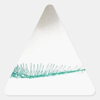 Navegación de la mente pegatina triangular