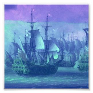 Navegación de la nave en los altos mares foto