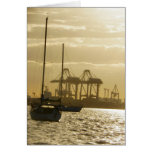 Navegación de la puesta del sol tarjeta