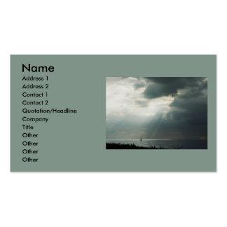 Navegación de la tempestad de truenos tarjetas de visita