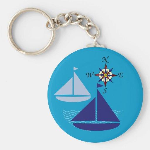 Navegación de los mares llaveros personalizados