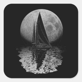 Navegación de medianoche calcomanía cuadradas personalizadas