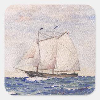 Navegación de Nantucket Pegatina Cuadradas