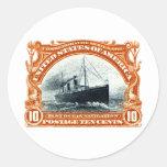 Navegación de océano rápida 1901 etiqueta