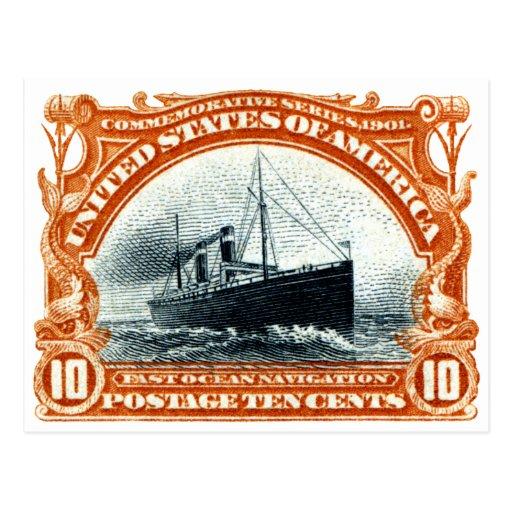 Navegación de océano rápida 1901 postales