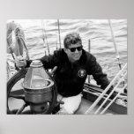 Navegación de presidente John Kennedy Poster