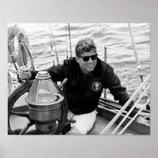 Navegación de presidente John Kennedy Póster