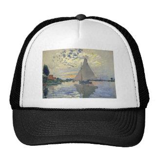 Navegación del agua del barco de Monet en Gorros Bordados