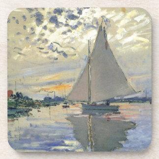 Navegación del agua del barco de Monet en Posavasos