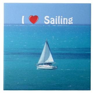 Navegación del amor azulejo cuadrado grande