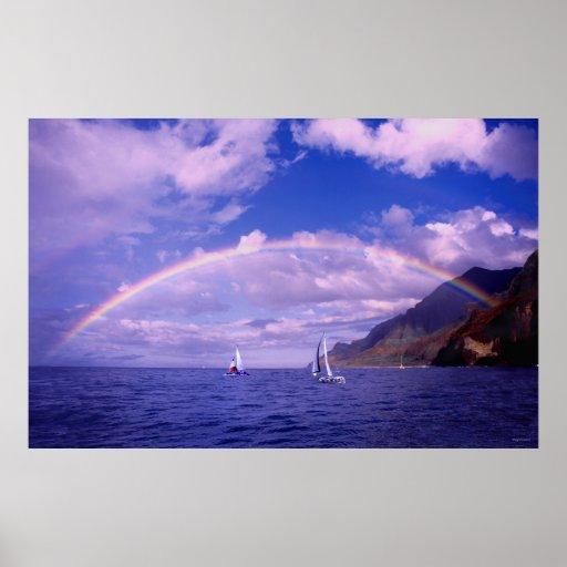 Navegación del arco iris - Kauai Hawaii Impresiones