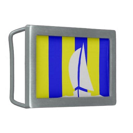 Navegación del barco de la bandera que navega de l hebillas cinturon