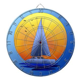 Navegación del catamarán tabla dardos