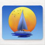 Navegación del catamarán tapete de ratón