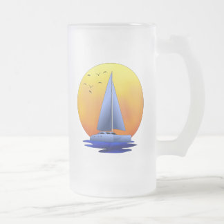 Navegación del catamarán taza