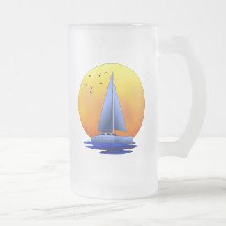 Navegación del catamarán taza de cristal