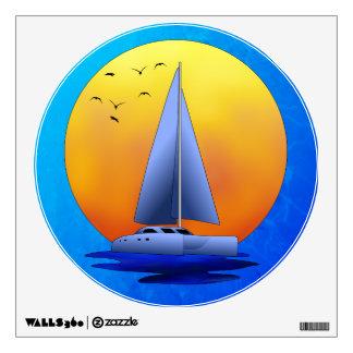 Navegación del catamarán vinilo