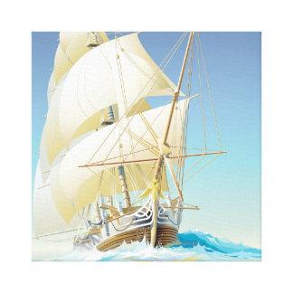 Navegación del cuadrado del mar impresiones de lienzo
