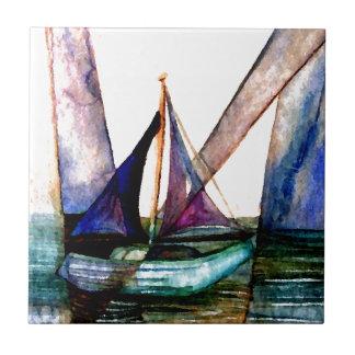 Navegación del extracto 1 del velero de azulejo cuadrado pequeño