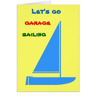 Navegación del garaje tarjeta de felicitación