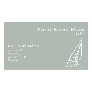 Navegación del gris de ceniza tarjetas de visita