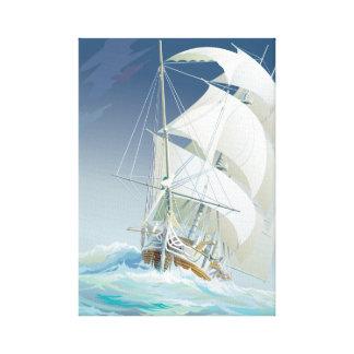 Navegación del mar 2 lona envuelta para galerias