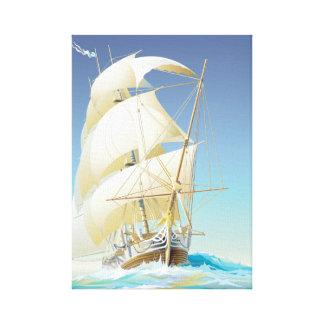 Navegación del mar impresion en lona