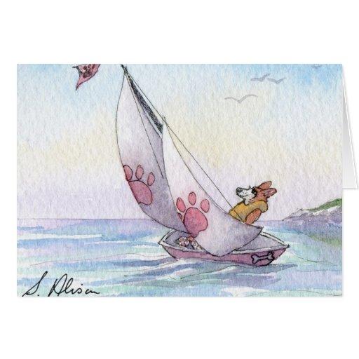 Navegación del perro del Corgi Galés Tarjeton