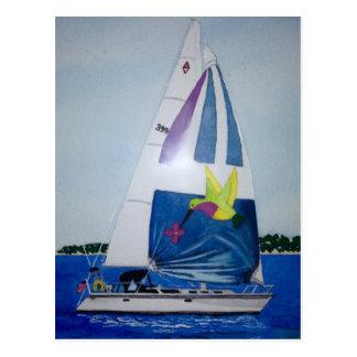 Navegación del verano tarjeta postal