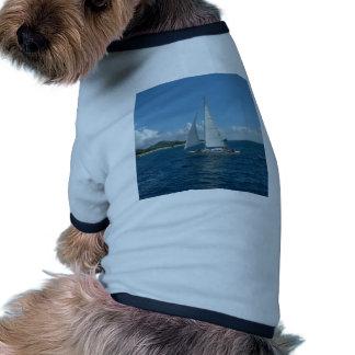 ¡Navegación, él es el viento en sus velas! Camisa De Perrito