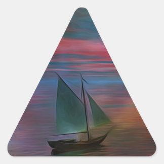 Navegación en el desconocido pegatina triangular