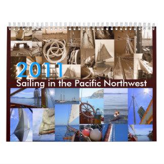 Navegación en el noroeste pacífico calendario de pared