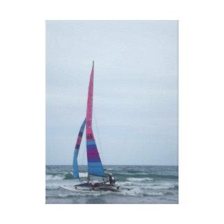 Navegación en el océano impresión en lona estirada