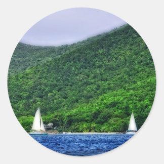 Navegación en las Islas Vírgenes de los E.E.U.U. Etiquetas Redondas