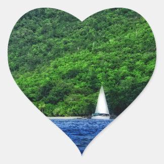 Navegación en las Islas Vírgenes de los E.E.U.U. Pegatinas De Corazon