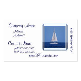Navegación en las tarjetas de visita del azul de o