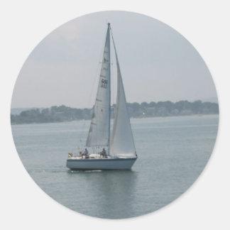 Navegación en los pegatinas de Nueva Inglaterra Etiquetas Redondas