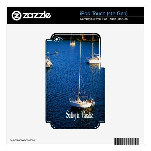 Navegación en paraíso iPod touch 4G skin