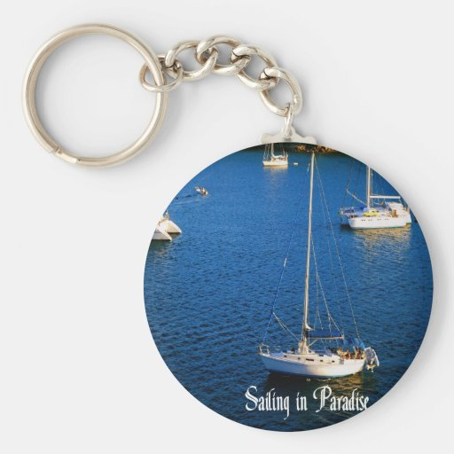 Navegación en paraíso llaveros