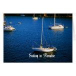 Navegación en paraíso tarjeta de felicitación