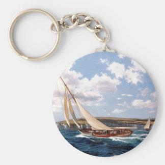 Navegación en un mar agitado llavero personalizado