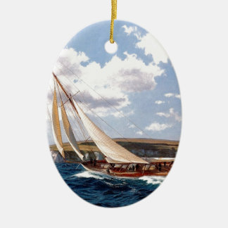 Navegación en un mar agitado ornato