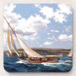 Navegación en un mar agitado posavasos