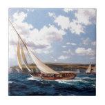Navegación en un mar agitado tejas  ceramicas