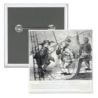 Navegación entre el Hebrides Pin Cuadrada 5 Cm