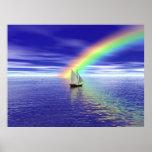 Navegación hacia paraíso impresiones